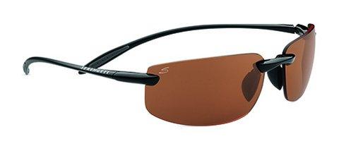 Serengeti Lipari Shiny Black Sunglasses