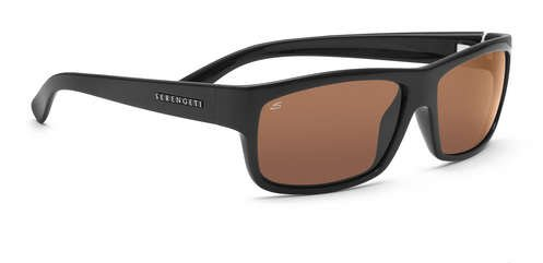 Serengeti Martino Shiny Black  Sunglasses