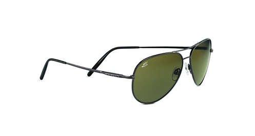Serengeti Medium Aviator Shiny Gunmetal  Sunglasses