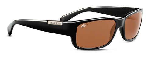 Serengeti Merano Shiny Black  Sunglasses