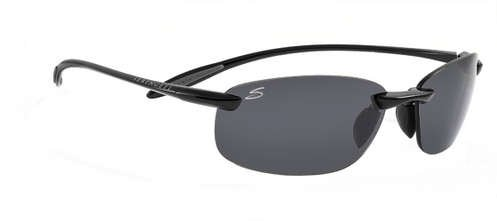 Serengeti Nuvola Shiny Black  Sunglasses