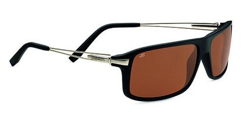 Serengeti Rivoli Satin Black  Sunglasses