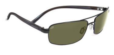 Serengeti San Remo Satin Black Sunglasses