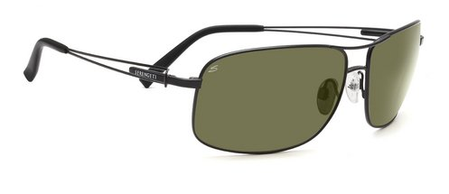 Serengeti Sassari Satin Black  Sunglasses