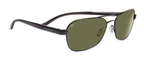 Serengeti Volterra Satin Black  Sunglasses