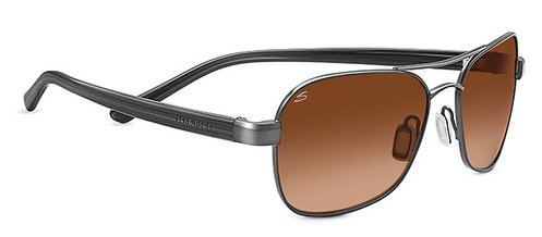 Serengeti Volterra Shiny Hematite  Sunglasses