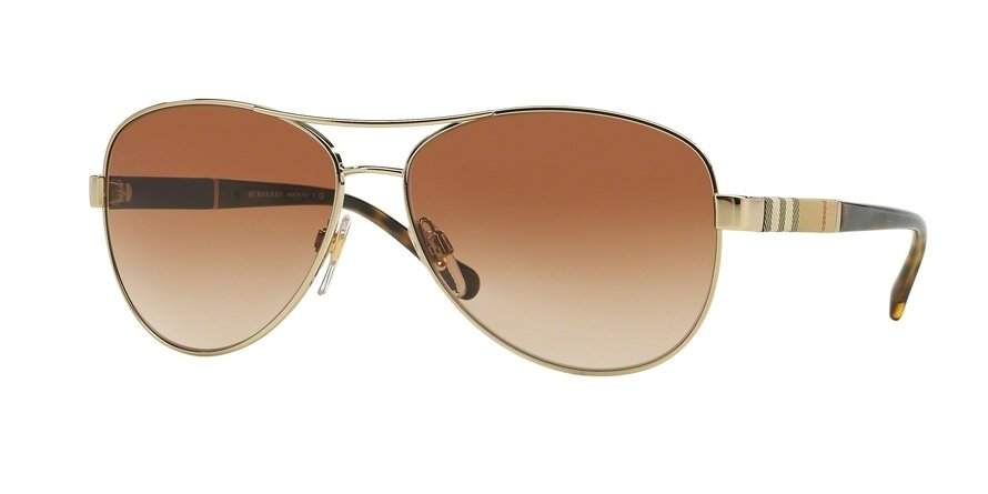 Burberry 0BE3080 Gold Sunglasses
