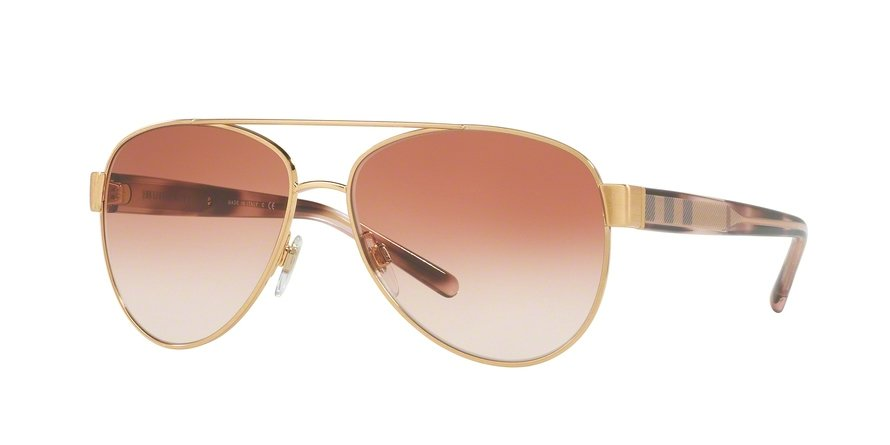 Burberry 0BE3084 Gold Sunglasses