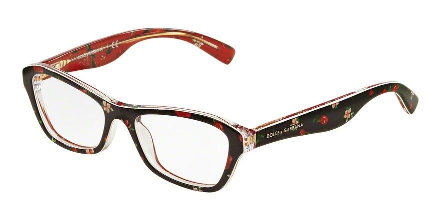 Dolce & Gabbana 0DG3202 ROSEFLOWERS ON BLACK Eyeglasses