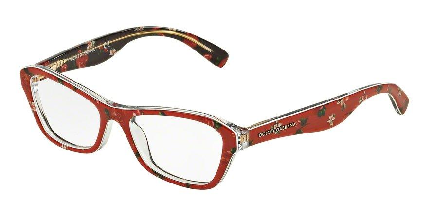 Dolce & Gabbana 0DG3202 ROSEFLOWERS ON RED Eyeglasses
