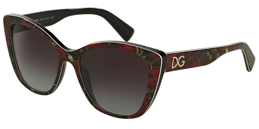 Dolce & Gabbana 0DG4216 PRINTING ROSES ON BLACK Sunglasses