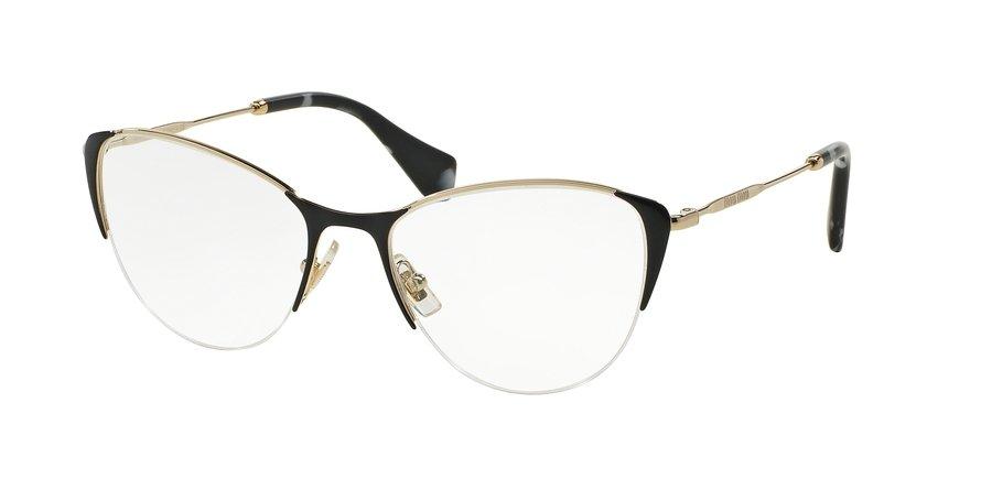 MU 0MU 50OV Black Eyeglasses