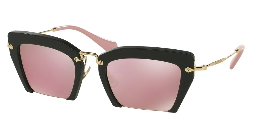 MU 0MU 10QS Black Sunglasses