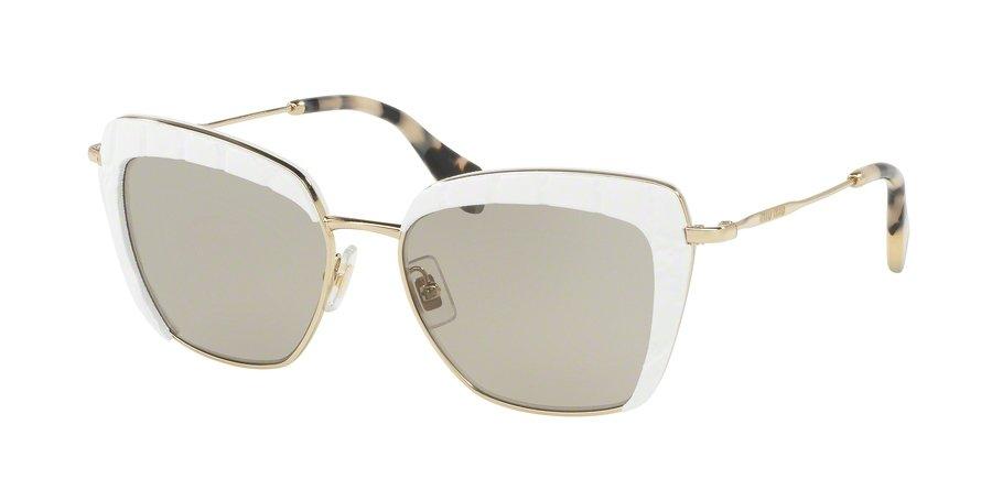 MU 0MU 52QS Ivory Sunglasses