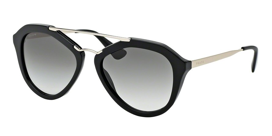 Prada 0PR 12QSA Black Sunglasses