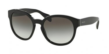 Prada 0PR 18RS Black Sunglasses