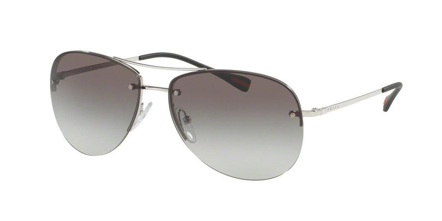 Prada Linea Rossa 0PS 50RS Silver Sunglasses