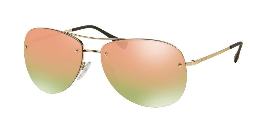 Prada Linea Rossa 0PS 50RS Gold Sunglasses