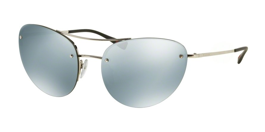 Prada Linea Rossa 0PS 51RS Silver Sunglasses