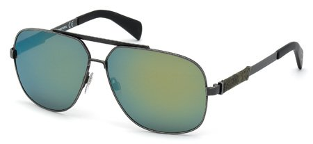 DIESEL DL0088 16Q   - shiny palladium / green mirror Metal
