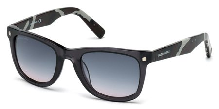 DSQUARED2 DQ0171 PRESTON 20B   - grey/other / gradient smoke Plastic