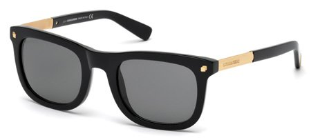 DSQUARED2 DQ0178 RONNY 01A   - shiny black  / smoke Plastic