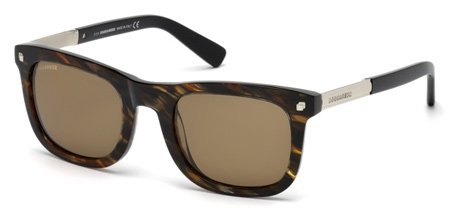DSQUARED2 DQ0178 RONNY 50E   - dark brown/other / brown Plastic