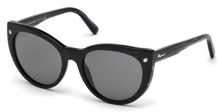 DSQUARED2 DQ0180 BETTY 01A   - shiny black  / smoke Plastic