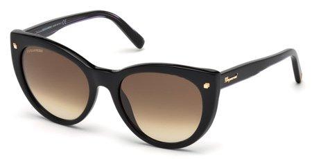 DSQUARED2 DQ0180 BETTY 01F   - shiny black  / gradient brown Plastic