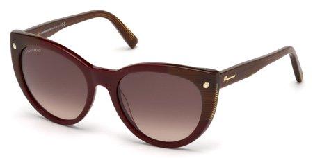 DSQUARED2 DQ0180 BETTY 69F   - shiny bordeaux / gradient brown Plastic