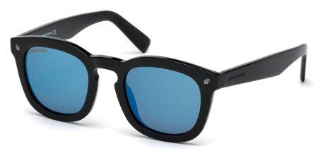 DSQUARED2 DQ0198 ANDY 01X   - shiny black  / blu mirror Plastic