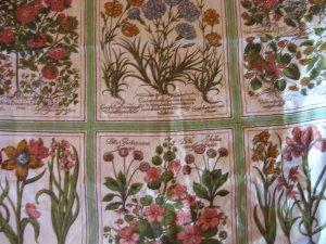 9 Botanical  Flower Folio Pillow Quilt Panels Fabric