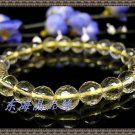 128 facets of the natural yellow crystal bracelet 8MM