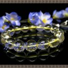 Natural yellow crystal bracelet 12MM