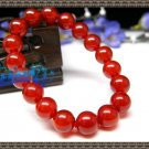 Natural red agate bracelet 10mm