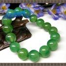 Natural green agate bracelet 12mm