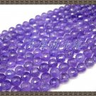 40 cm of natural 8MM purple crystal 128 faceted semi-finished products
