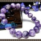 Natural purple crystal pyramid bracelet10MM