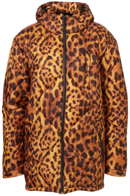 Topshop Ashish Leopard Print Ski Quilted Coat Jacket Medium BNWT £200