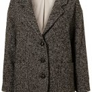 TOPSHOP Tweed Drop Arm Boyfriend Coat UK14/42/10 BNWT