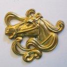 Gold horse pendant
