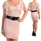 SMALL Pretty in Peach Mini Dress