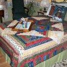 Christmas log cabin quilt