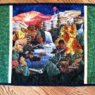 Wildlife mini quilted landscape wall hanging