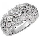 14k White Gold 1/2ctw Diamond Ring - 69497