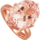 14k Rose Gold 12.14ct Genuine Morganite Ring - 68776