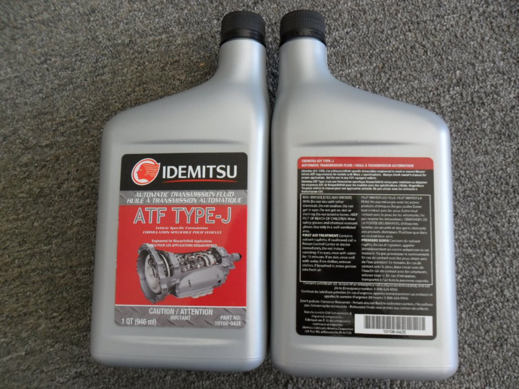 How To Check Automatic Transmission Fluid >> Idemitsu ATF Type-J for Nissan Infiniti Automatic Transmission Fluid Oil Type J ( 4 quarts )