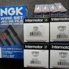 Mazda RX8 NGK Laser Iridium spark plugs , 4 coils UF501 , NGK wires cables RX-8