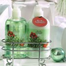 Winter Forest Hand Soap & Hand Lotion with Chrome Caddy