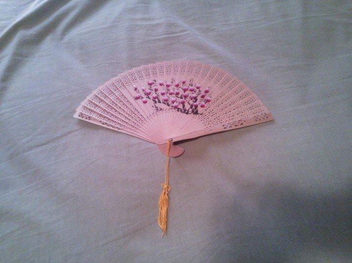 18th Century, Regency, Colonial, Marie Antoinette Cherry Blossom Fan